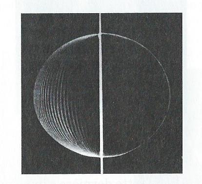 Sphère engendrée par la rotation d'un demi anneau plat