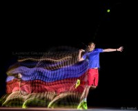 Mouvement de tennis en Motion Sculpture