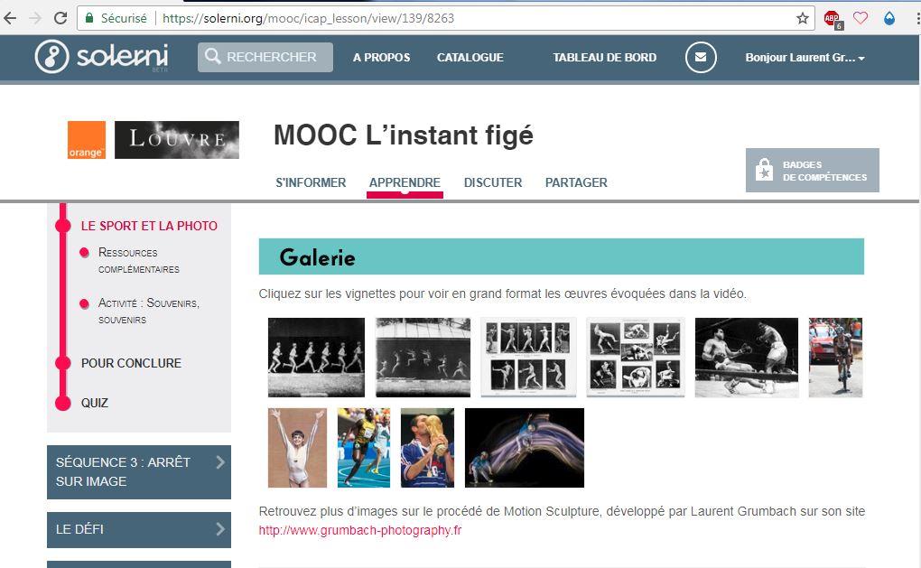 Mooc Louvre - instant figé - Galerie