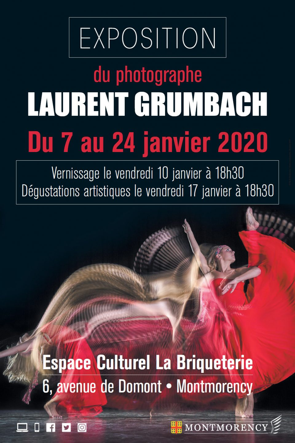Affiche exposition Laurent Grumbach Montmorency 2020