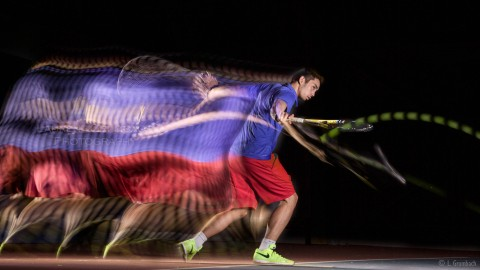 Photo de mouvement de tennis en Motion Sculpture Tennis movement photography using Motion Sculpture
